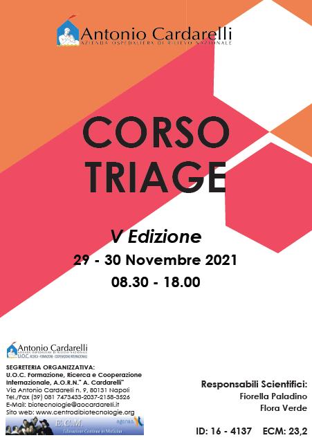 Corso RES - CORSO TRIAGE - V Ed. - ISCRIZIONI CHIUSE -