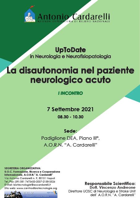 Corso RES - UpToDate in Neurologia e Neurofisiopatologia: La disautonomia nel paziente neurologico acuto - I Incontro