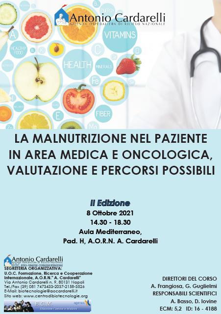 Corso RES - LA MALNUTRIZIONE NEL PAZIENTE IN AREA MEDICA E ONCOLOGICA, VALUTAZIONE E PERCORSI POSSIBILI - ISCRIZIONI APERTE -
