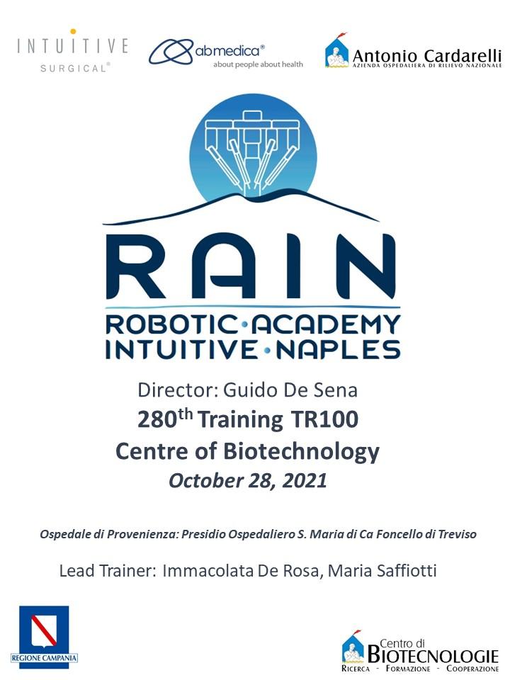 RAIN - Robotic Academy Intuitive Naples - 280th Training TR100