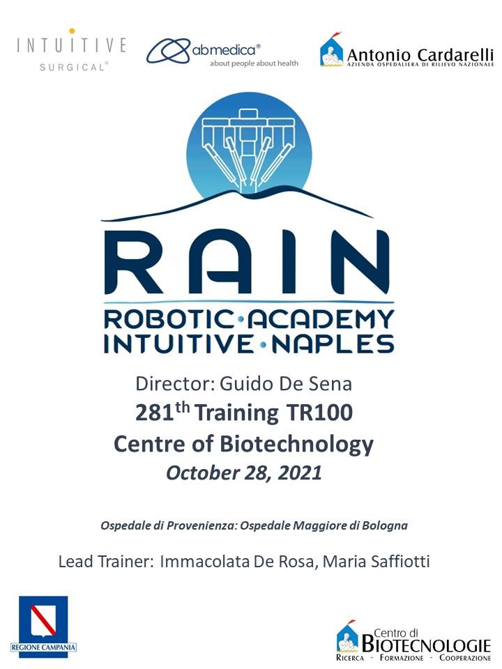 RAIN - Robotic Academy Intuitive Naples - 281th Training TR100